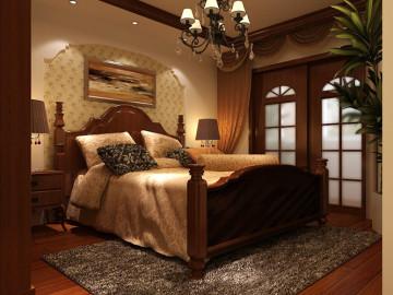 135平三居室美式风格装修案例99