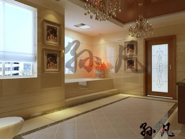 元洲装饰鲁能七号院二层卫生间效果图