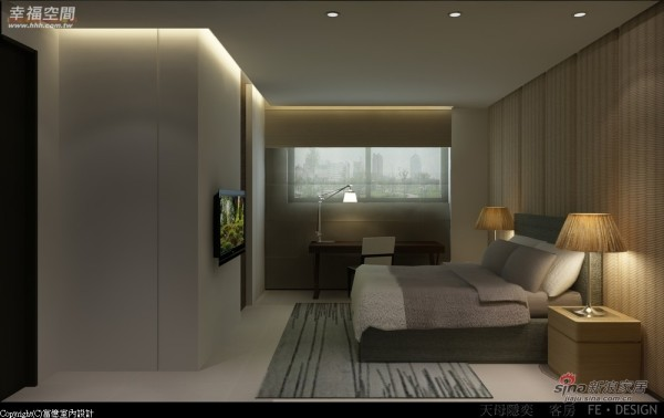 客房则以深浅色木作与洁净墙面呈现静谧舒适