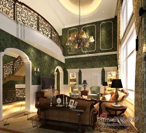 混搭 别墅 客厅图片来自用户1907689327在300平米别墅混搭无限风光26的分享