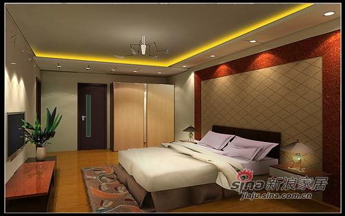 中式 三居 卧室图片来自用户2737751153在北沙滩中式风格95的分享