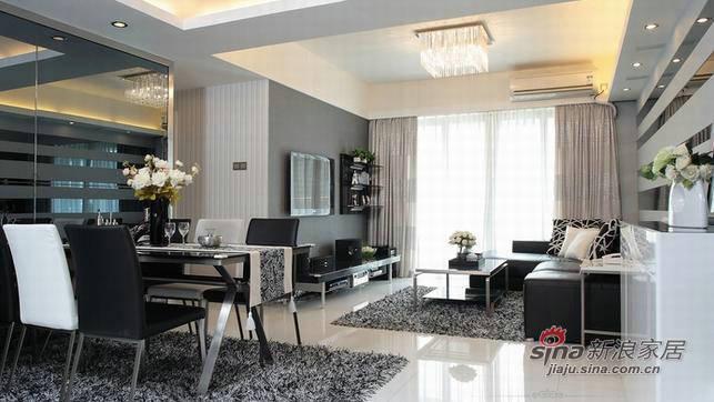 简约 三居 客厅图片来自用户2558728947在138平黑白系空间75的分享