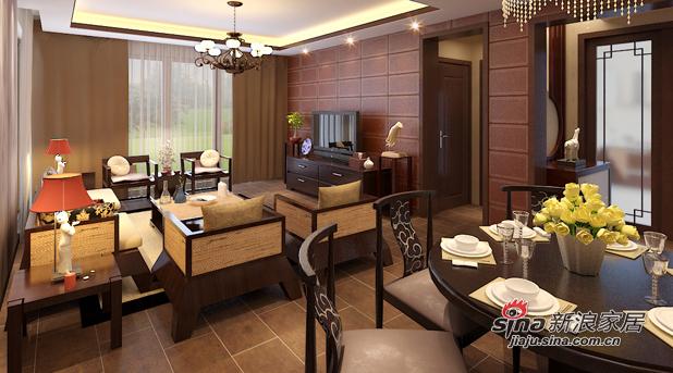 中式 四居 客厅图片来自用户1907658205在现代与中式完美结合46的分享