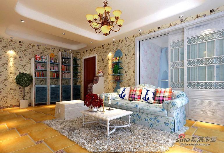 田园 三居 客厅图片来自用户2737946093在136平米田园风格精美案例39的分享