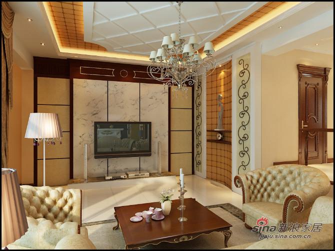 美式 四居 客厅图片来自用户1907686233在东湖湾美式风格25的分享