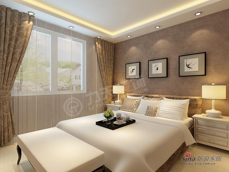 简约 三居 卧室图片来自阳光力天装饰在3室2厅现代简约设计33的分享