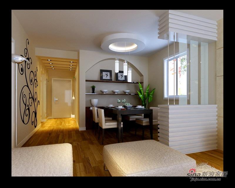 简约 三居 餐厅图片来自用户2557010253在6万装125平简约现代三室两厅53的分享