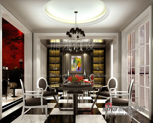 混搭 别墅 餐厅图片来自用户1907689327在吉祥如意的后奢华生活46的分享
