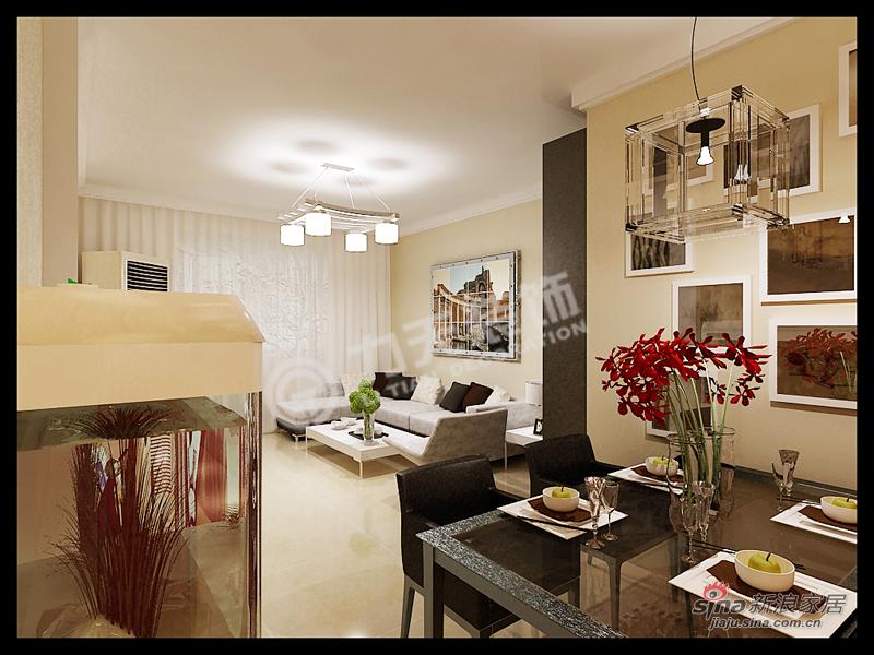 简约 二居 餐厅图片来自阳光力天装饰在大港奉献南里-2室2厅1卫1厨100㎡-现代简约30的分享