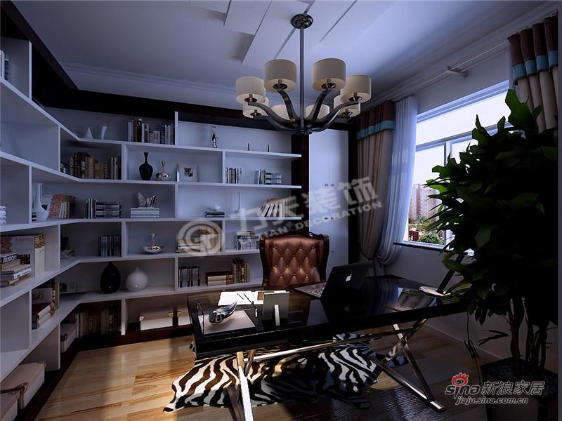 简约 三居 书房图片来自阳光力天装饰在三室两厅现代简约风格家59的分享