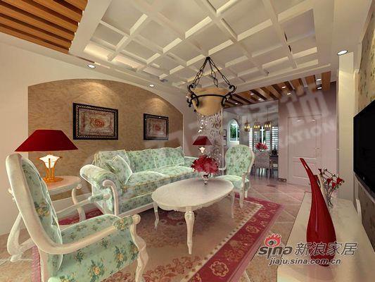 田园 二居 客厅图片来自阳光力天装饰在甜美田园风,成就你的公主梦!34的分享