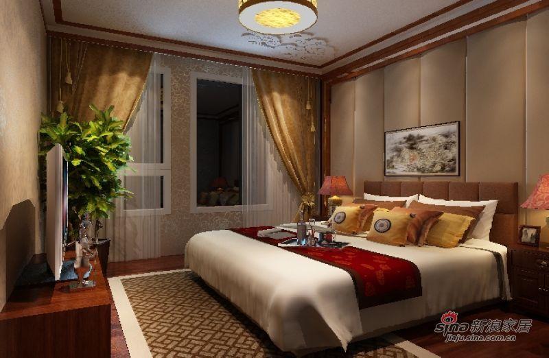 中式 三居 卧室图片来自用户1907658205在四合上院浓厚中式风情40的分享