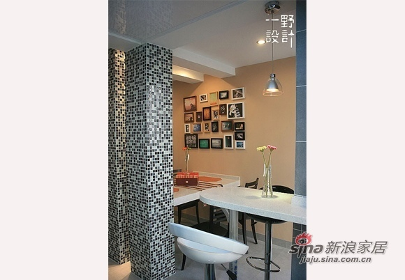 简约 三居 餐厅图片来自用户2738829145在10万全包装92平橙彩小屋67的分享