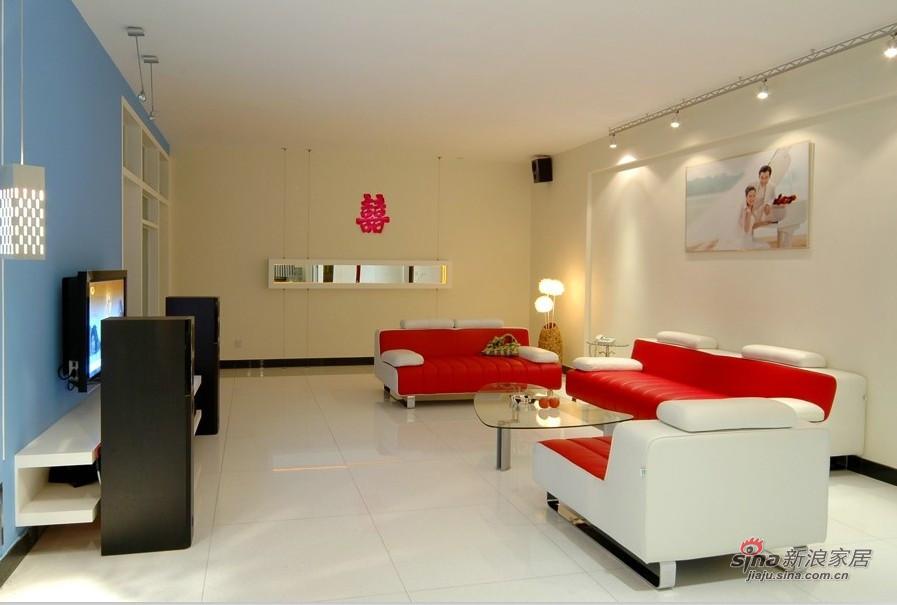 现代 二居 客厅图片来自装修微日记在【高清】白领夫妻90平时尚炫彩婚房19的分享
