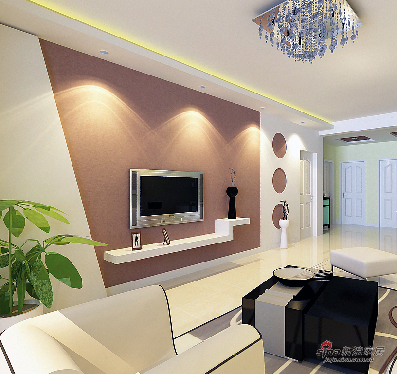 简约 二居 客厅图片来自用户2739378857在简约大方时尚而实用瑞城两居室设计54的分享