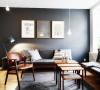 53.5平米是一个不大却也不算小的家,经典的北欧黑白灰,干净的如此安静。而在其中只需要摆上几张木质感的家具就如一套有着许多爱情故事的小屋一般。如果给予你这一方小空间,你又能说出如何的故事?