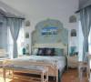 7万装112平地中海风格三居室79