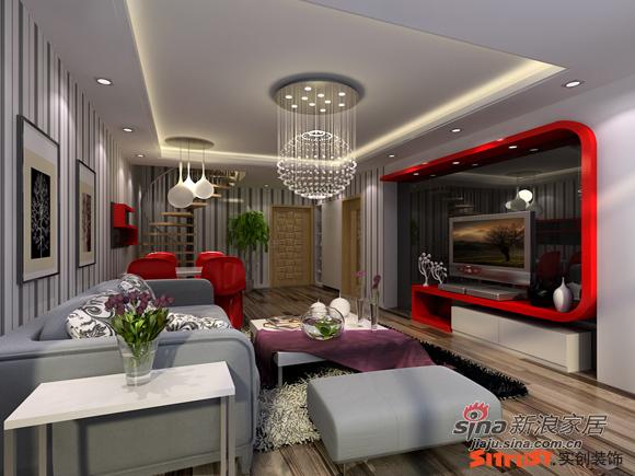 简约 loft 客厅图片来自用户2738820801在8万打造北京像素120平loft简约风格83的分享