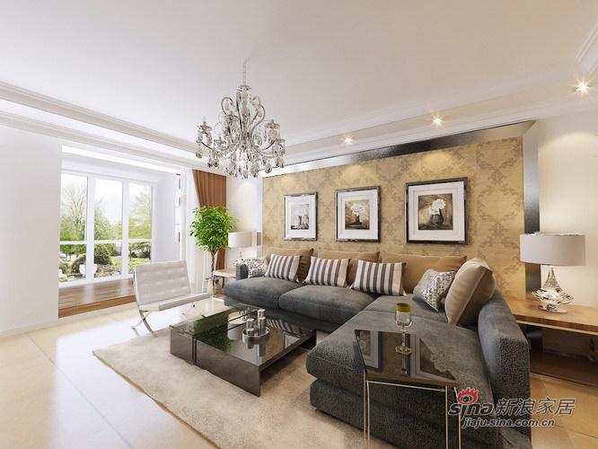 欧式 三居 客厅图片来自用户2745758987在7.1万轻松装128㎡欧式爱家79的分享