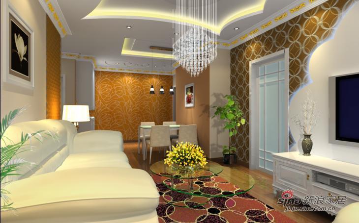 欧式 复式 客厅图片来自用户2745758987在润枫锦尚三口之家的欧式之风22的分享