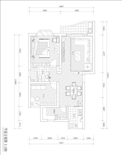 简约 二居 户型图图片来自用户2737735823在被多彩左右的婚房72的分享