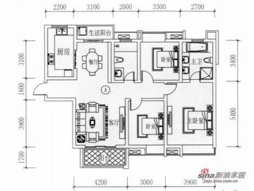 紫薇永和坊三居室欧式装修设计64
