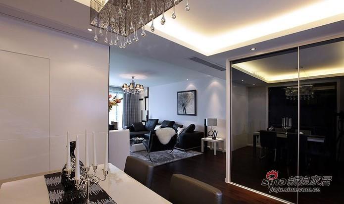 简约 二居 餐厅图片来自用户2737950087在5.8万演绎100平黑白系时尚简约2居室98的分享