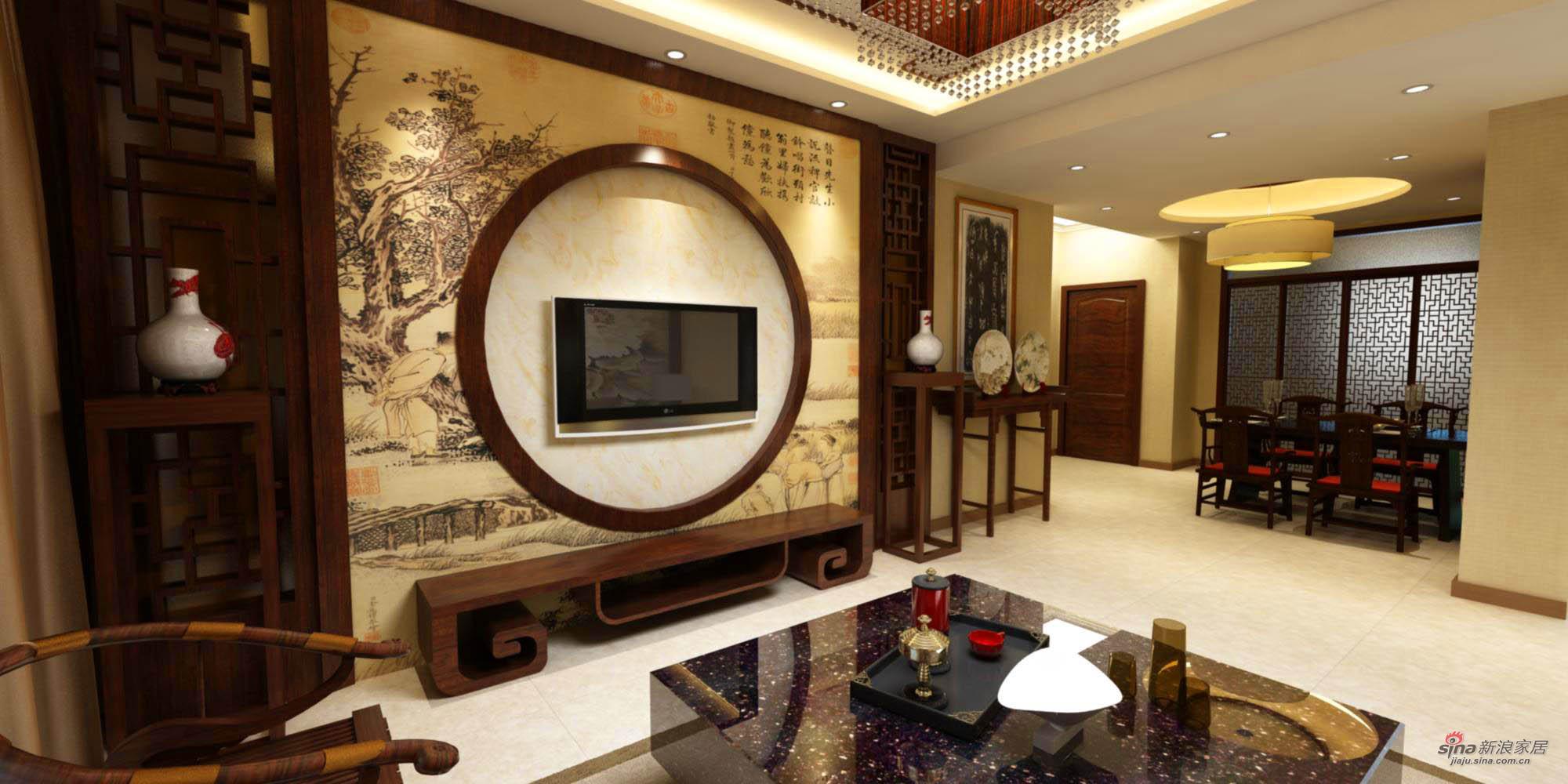 中式 二居 客厅图片来自用户1907661335在中式家居设计75的分享