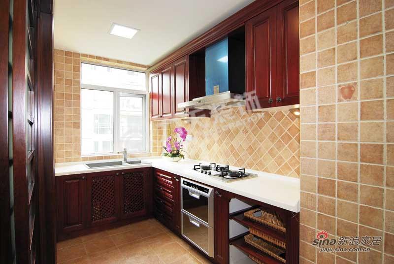 中式 四居 厨房图片来自阳光力天装饰在天津大都会-四室两厅两卫 -新中式风格66的分享