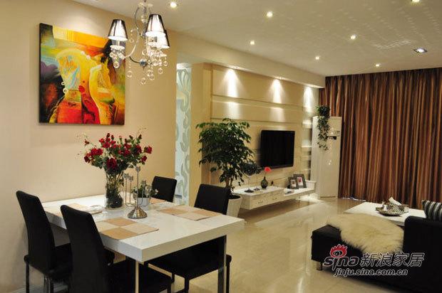 简约 三居 客厅图片来自佰辰生活装饰在8万打造94平时尚现代3居室44的分享