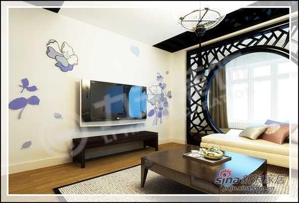 中式 三居 客厅图片来自阳光力天装饰在138平儒雅诗意中式风情14的分享
