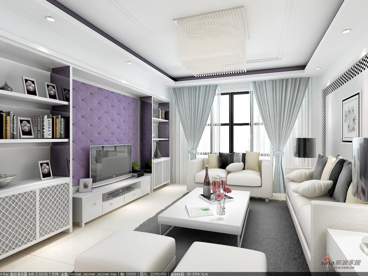 其他 三居 客厅图片来自用户2558746857在金域110平优雅白调3居53的分享