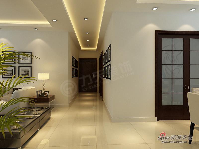 简约 三居 玄关图片来自阳光力天装饰在3室2厅现代简约设计33的分享