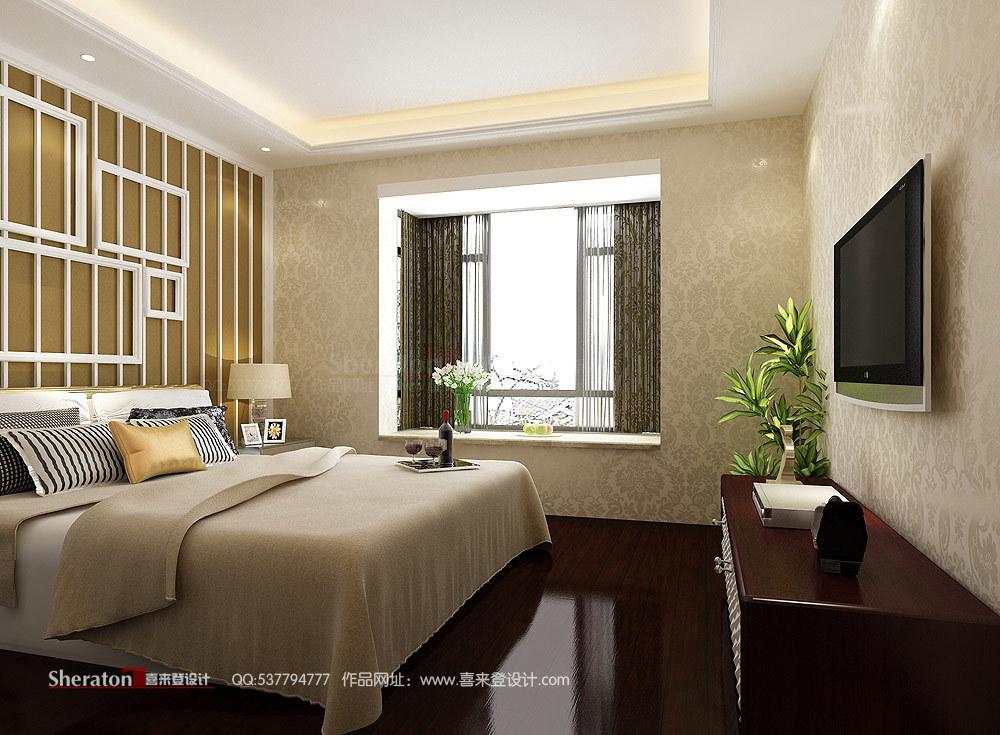 欧式 复式 卧室图片来自用户2746948411在4万元改造160平江山帝景51的分享