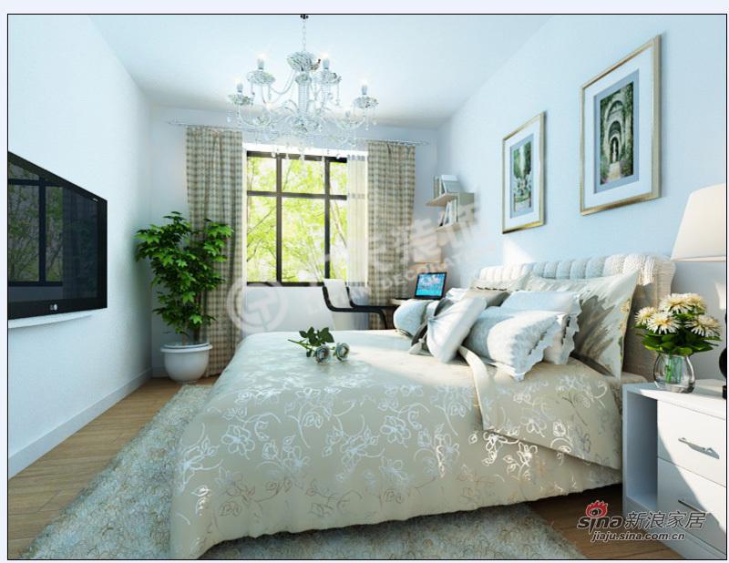 简约 二居 卧室图片来自阳光力天装饰在2室2厅现代甜美可爱简约风格美家34的分享