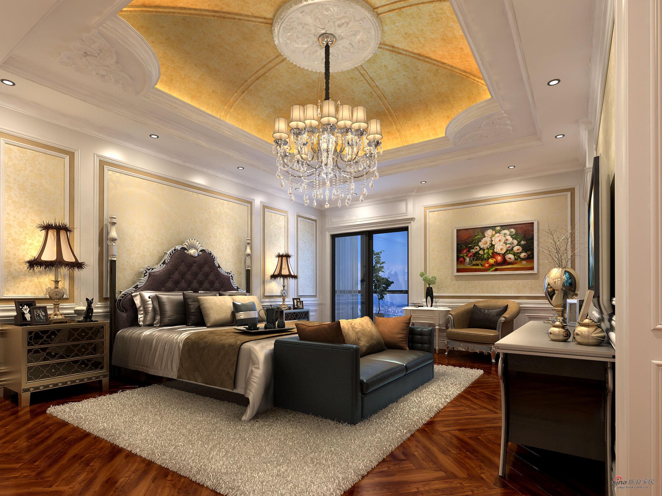 新古典 别墅 卧室 公主房图片来自用户1907701233在提香.草堂大别墅新古典典范43的分享
