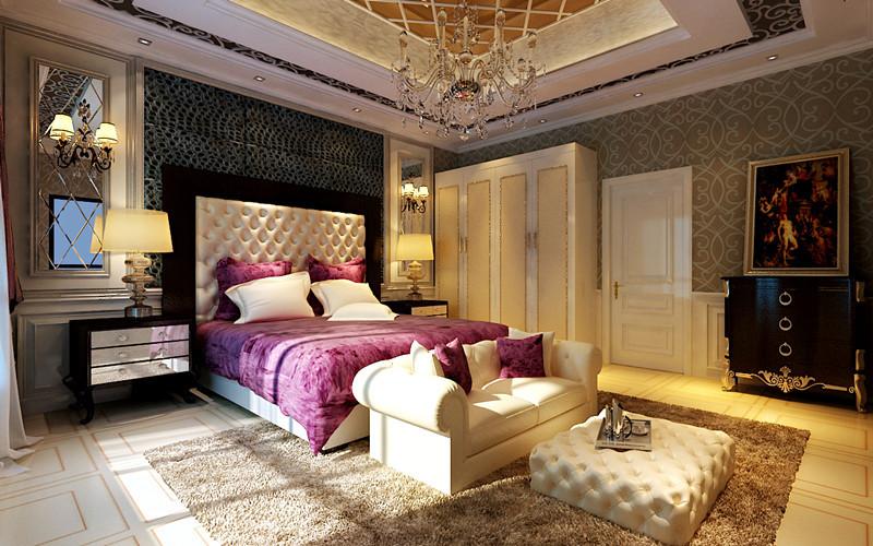 欧式 别墅 卧室图片来自用户2746948411在23万打造现代奢华的别墅大宅设计98的分享