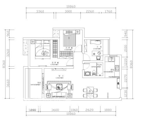 其他 二居 户型图图片来自用户2771736967在婚房设计 温馨小户型83的分享