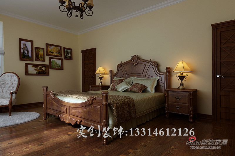 欧式 四居 卧室图片来自用户2772873991在18.7万 打造浪琴水岸 200平 欧式风格96的分享