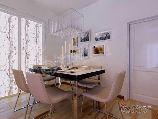 简约 二居 餐厅图片来自阳光力天装饰在福晟钱隆城80平米现代简约79的分享