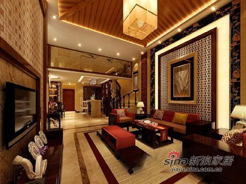 中式 别墅 客厅图片来自用户1907658205在皇族贵气210平大气豪宅44的分享