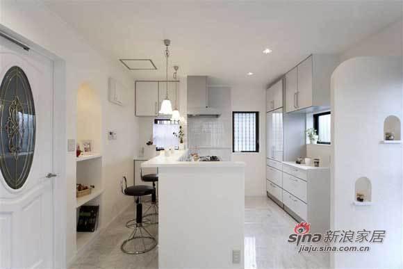 简约 三居 厨房图片来自用户2739081033在夫妻9万硬装123平纯白简约家80的分享