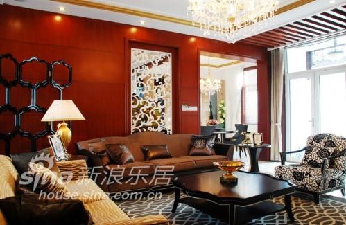 中式 别墅 客厅图片来自用户2740483635在赏新中式独栋奢华别墅装修90的分享