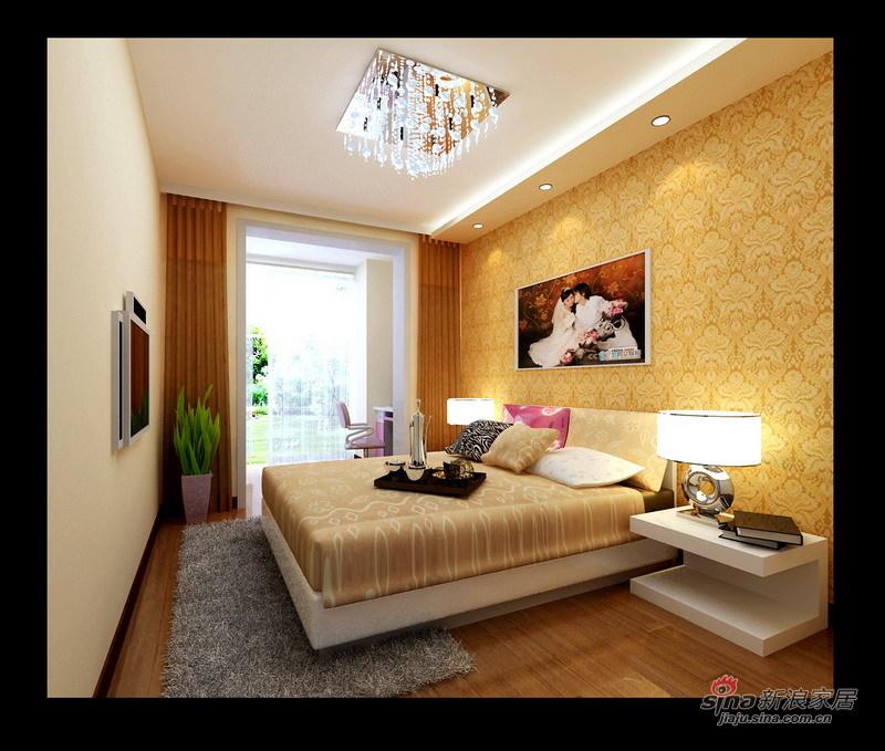 简约 一居 卧室图片来自用户2738813661在63平简洁时尚一居67的分享