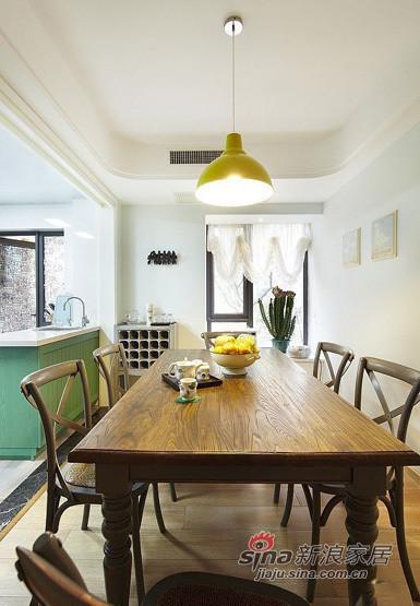 美式 三居 餐厅图片来自用户1907685403在140平美式风格三居室39的分享