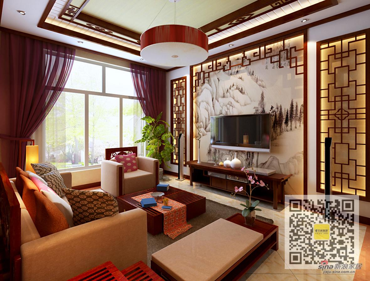 中式 别墅 客厅图片来自用户1907696363在300平中式风格独栋别墅27的分享