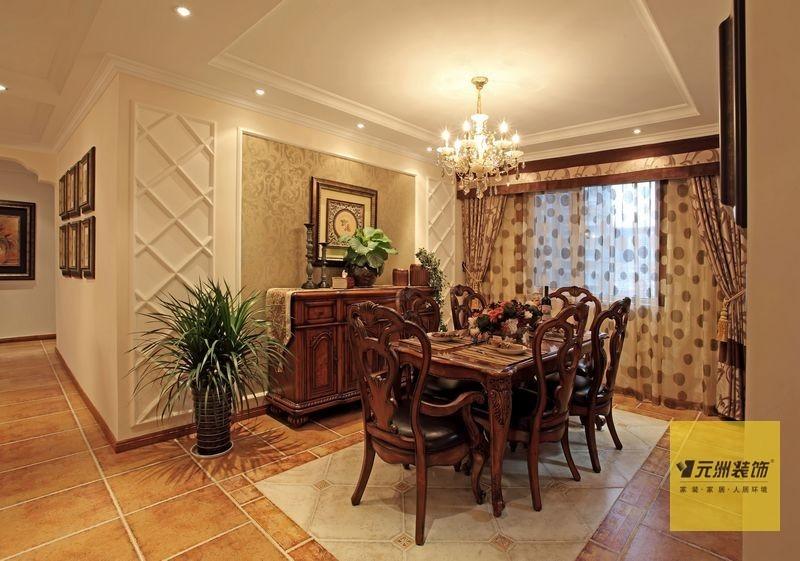 美式 三居 餐厅图片来自用户1907685403在北京160平米典雅美式风格实景图43的分享