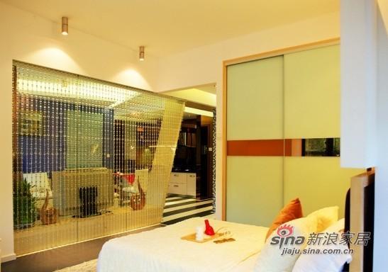 中式 三居 卧室图片来自用户1907658205在传统与现代结合混搭风三居19的分享
