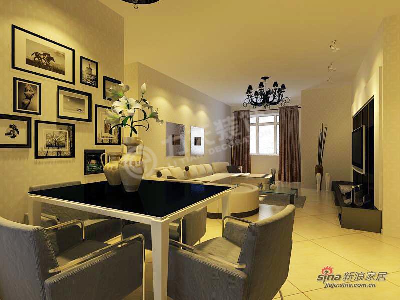 简约 三居 餐厅图片来自阳光力天装饰在3室2厅现代简约功能美家50的分享
