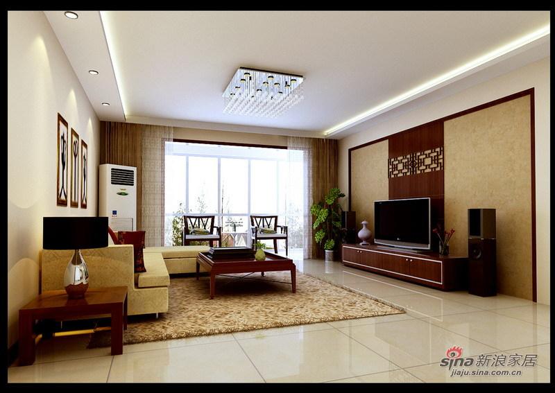 中式 四居 客厅图片来自用户1907659705在师职180㎡新中式风格4居室33的分享